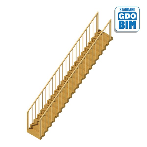 Stair Zig Zag - Wood Railing