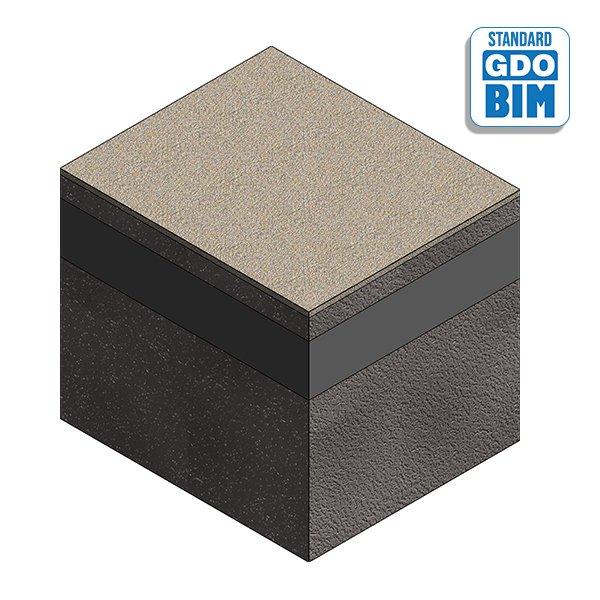 bim object build in wood Concret