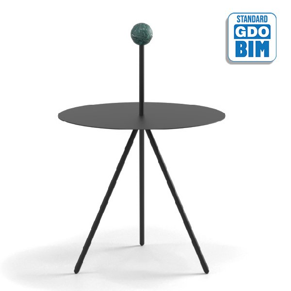 Trino Low Table Marble Sphere M