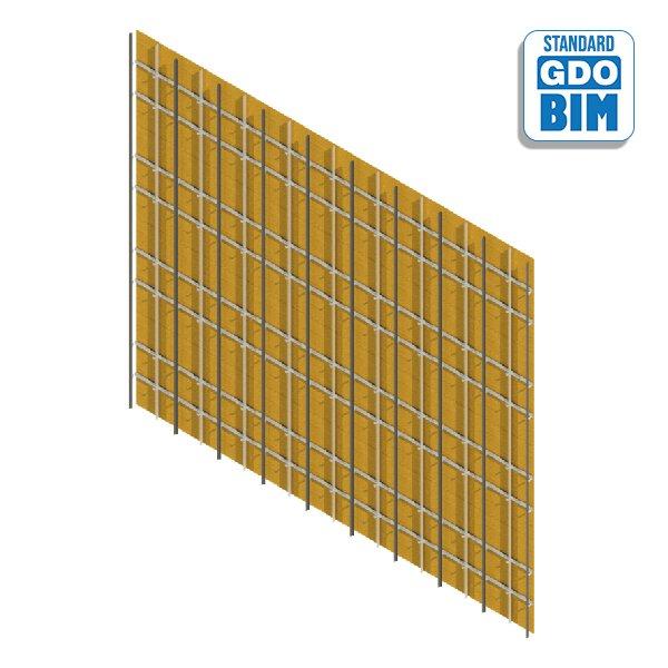 Vorhangfassade CLT-16 1220x244mm