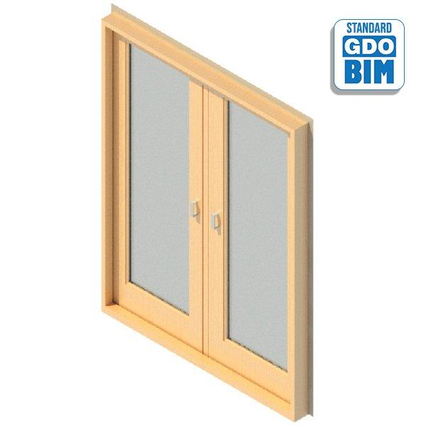 Exterior door 2 glazed panel 160
