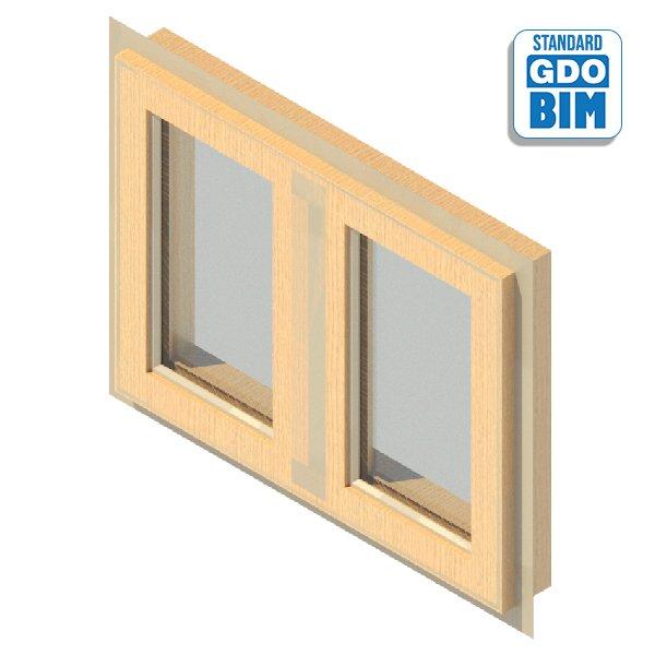 Window 2 Panel Side Hung 800 x 6