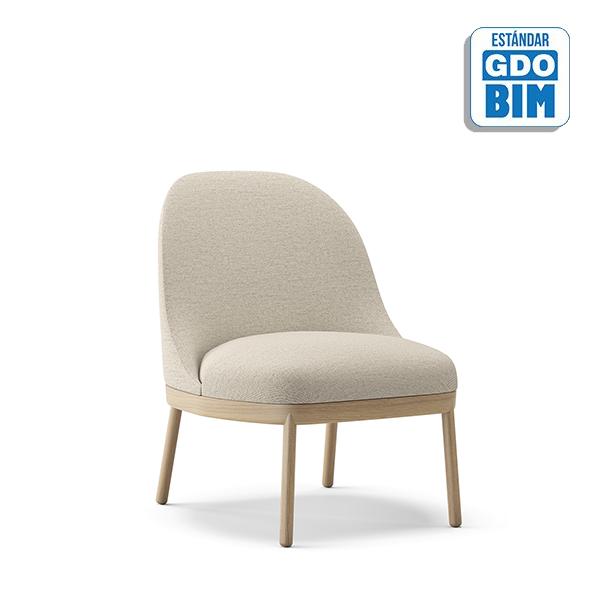 Aleta Lounge Chair Wooden Base -