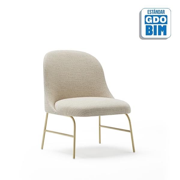 Aleta Lounge Chair Metal Base -