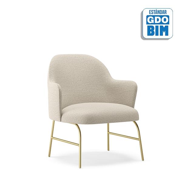 Aleta Lounge Chair Metal Base wi