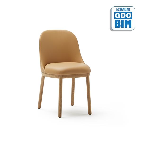 Aleta Chair Wooden Base - ALSIMA