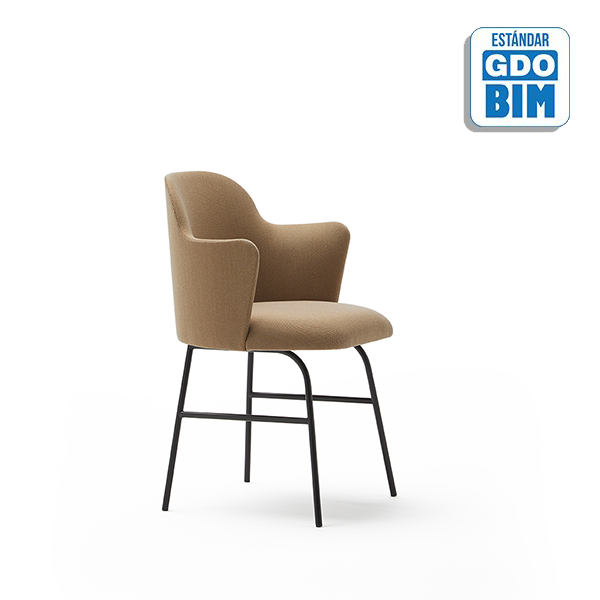 Aleta Chair with Armrest Metal B