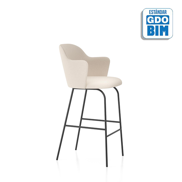 Aleta Stool Fixed Base High Back