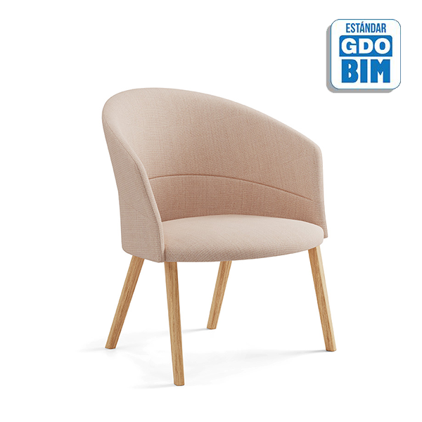 Copa Lounge Chair Wooden Base -