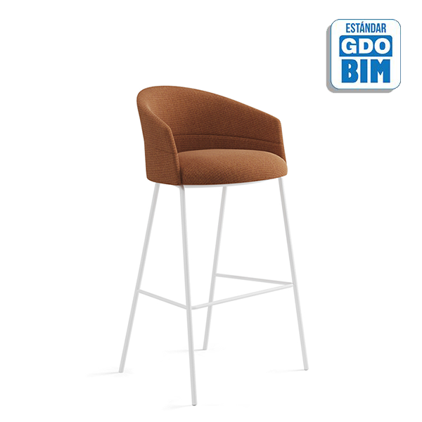 Copa Bar Stool Four Metal Legs B
