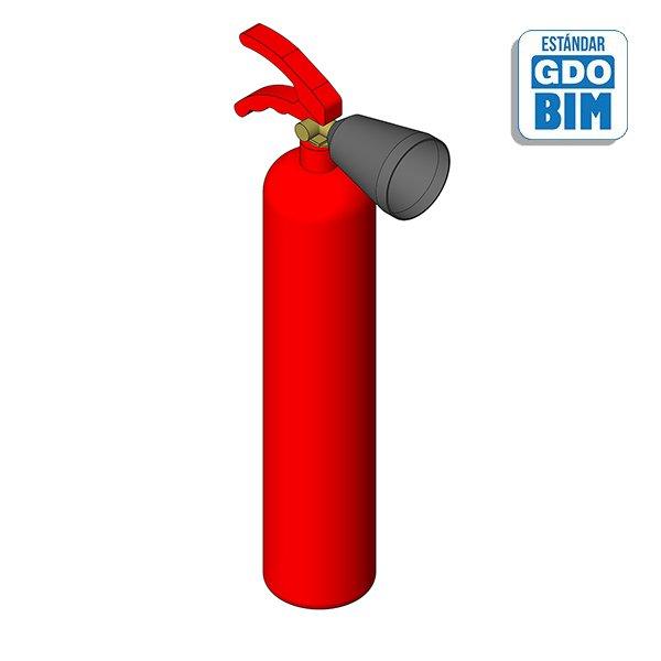 Extintor CO2 - 2Kg