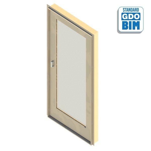 Außentür 1 Panel 700 x 2100 mm