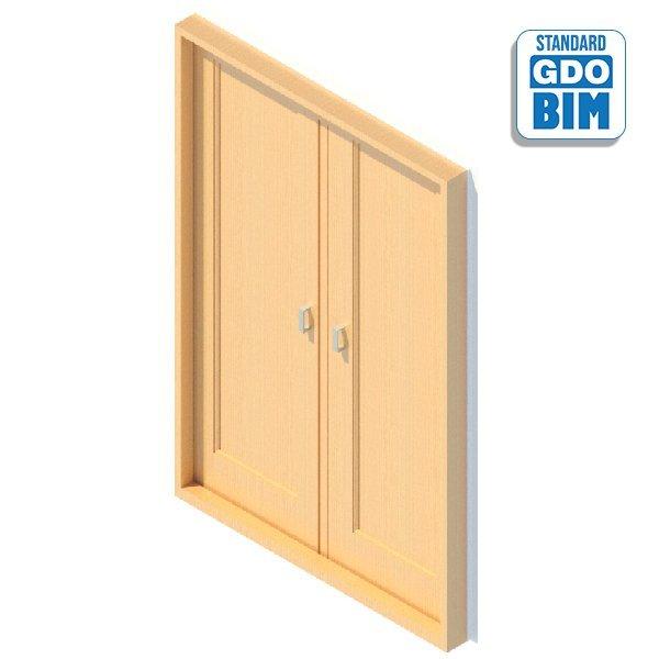 Außentür 2 Panel 1400 x 2100 mm