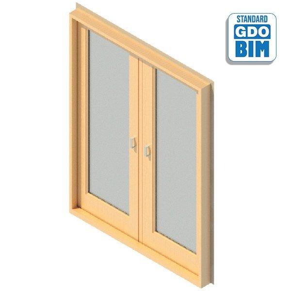 Außentür 2 Panel glasiert 1600 x