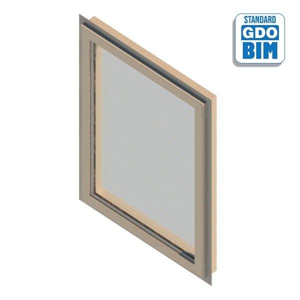 Fenster 1 Panel Drehfenster 600