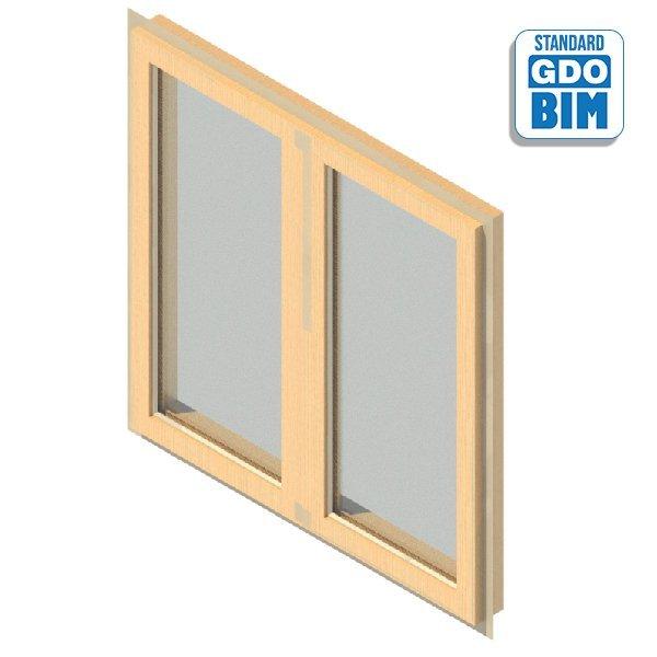 Fenster 2 Panel Drehfenster 1200