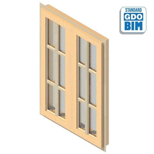 Fenster 2 Panel Drehfenster 800