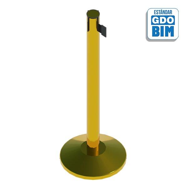 Poste separador dorado con cinta
