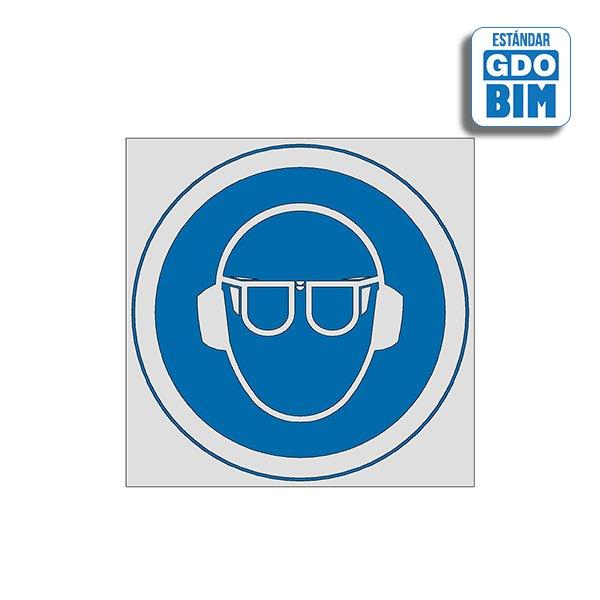Señal Uso de gafas y protección