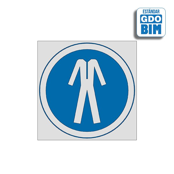 Señal Uso de ropa protectora aju