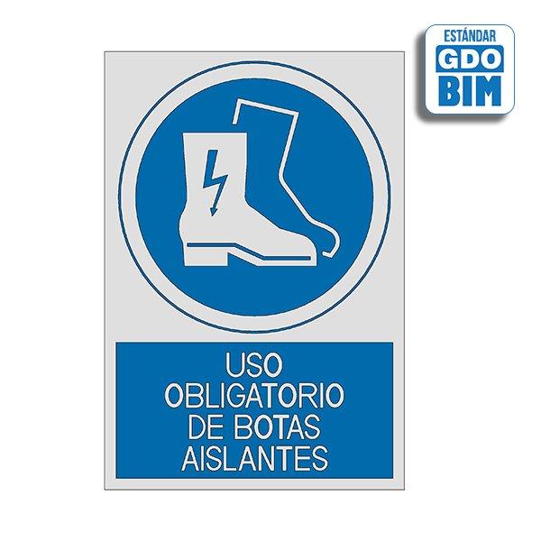 Señal Uso obligatorio de botas a