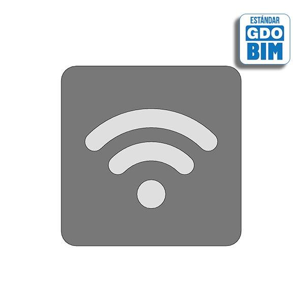 Señal Wifi central aluminio mate
