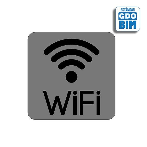 Señal Wifi central con letero ab