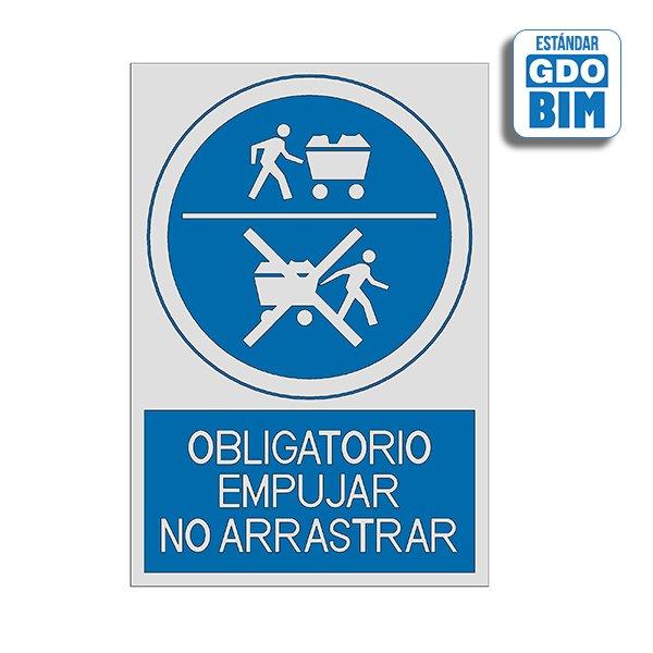 Señal Obligatorio empujar. No ar