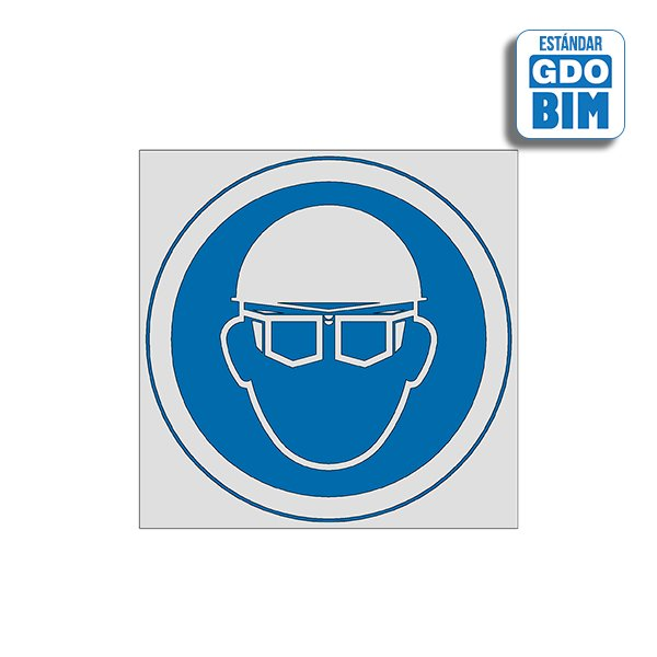Señal Uso de casco y gafas