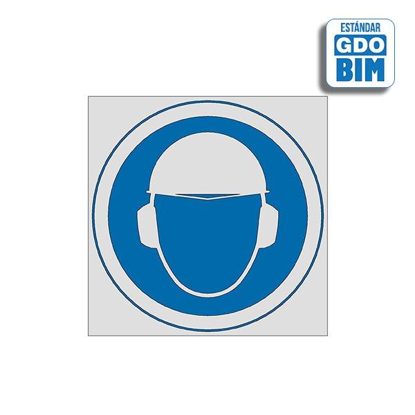 Señal Uso de casco y protección