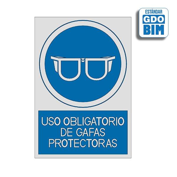 Señal Uso obligatorio de gafas p