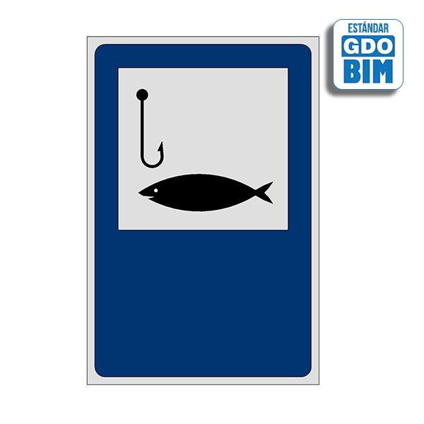 Señal Coto de pesca