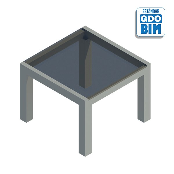 Mesa aluminio terraza rectangula