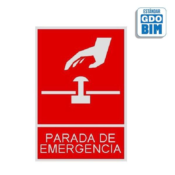 Señal parada de emergencia