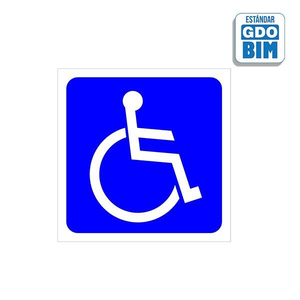 Señal suelo Discapacitados