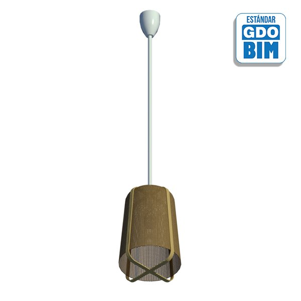 Lámpara de techo bambú ratán
