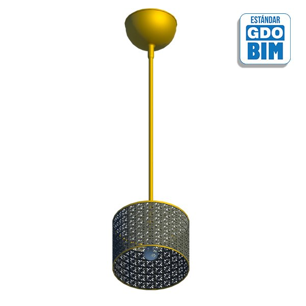 Lámpara de techo, negro latón