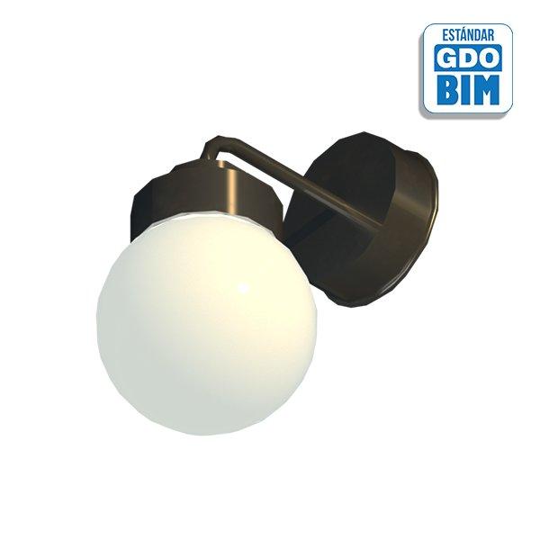 Lámpara soporte de pared esféric