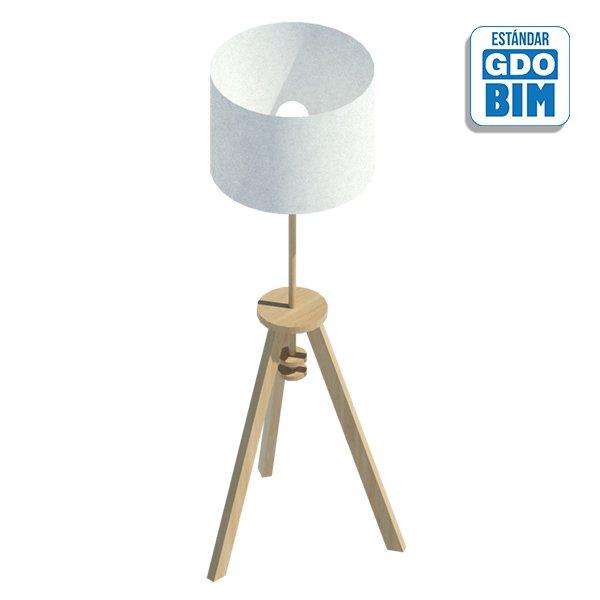 Lámpara de pie base trípode