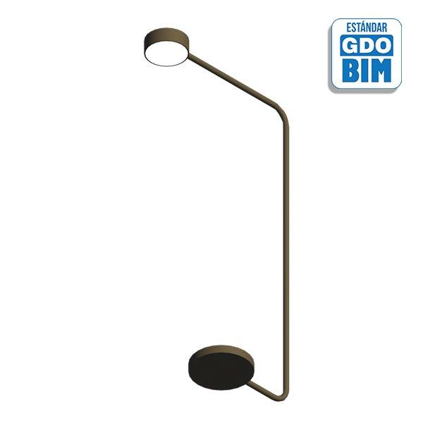 Lámpara de pie metálica 150 mm