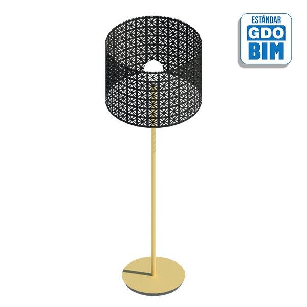 Lámpara de pie metálica 440 mm