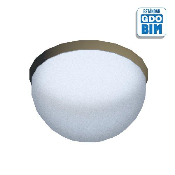 Lámpara techo pared semi-esféric