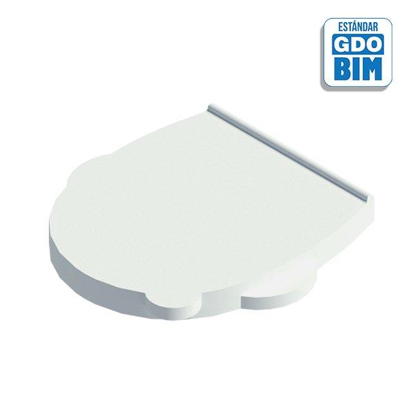 Tapa y asiento de inodoro para e
