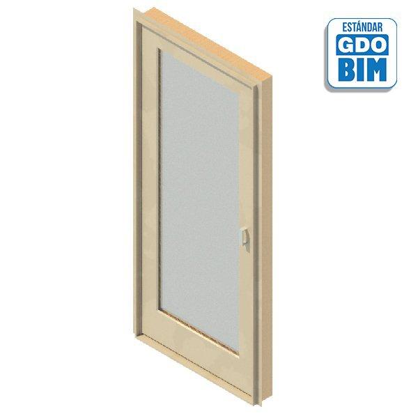 Puerta Exterior 1 Panel Vidriado