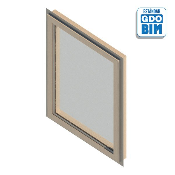 Ventana 1 Panel Abatible 600 x