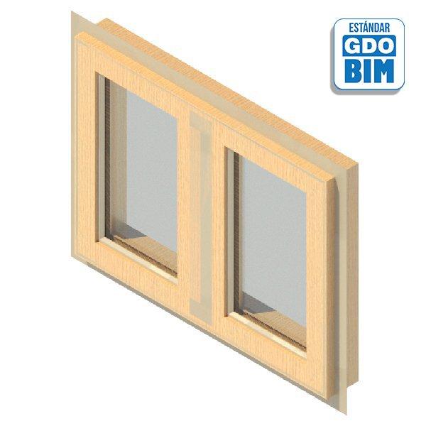 Ventana 2 Panel Abatible 800 x 6