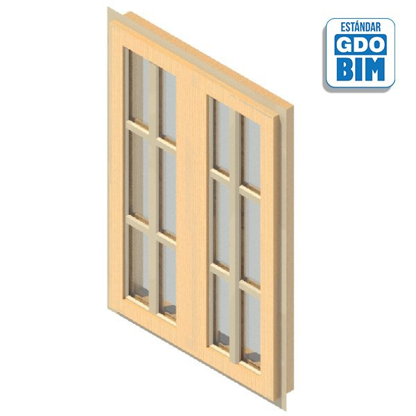 Ventana 2 Panel Abatible 800 x 1