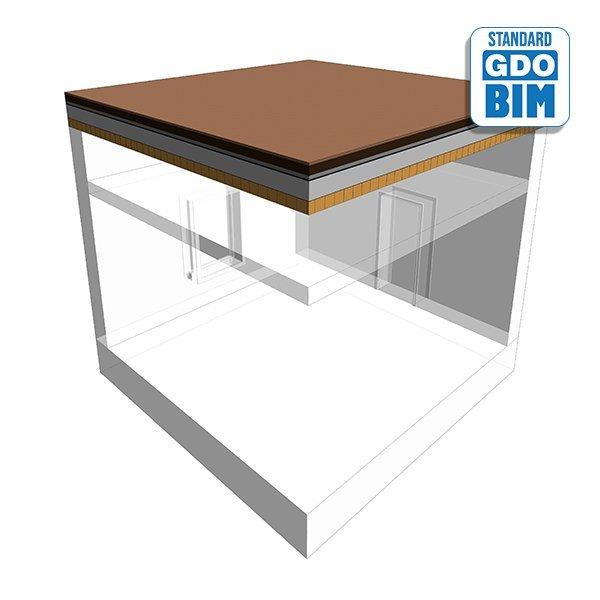 CLT Biodiverses braunes Dach im