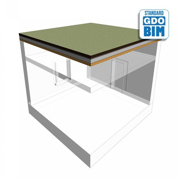 CLT Dach im Grünes Dach über Bür