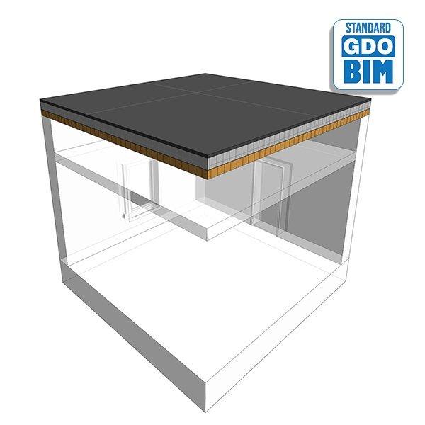 CLT Dach im Lift Overun 448mm